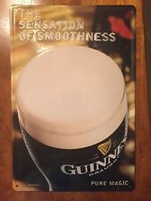 Guinness Draught The Sensation of Smoothness Pure Magic Tin Sign Guiness & Co.
