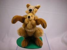 "World of Miniature Bear 4""  Mohair Kangaroo #965 Collectible Miniature Kangaroo"