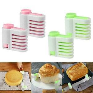2x Even Cake Slicing Leveler Bread Cutter Slicer Baking Kitchen Tool Durable New
