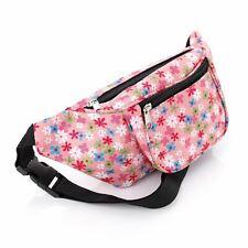 Pink flower bum bag Fanny Pack Festival Money Holiday Shopping Travel Belt