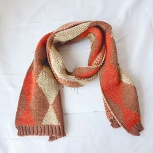 Baby Unisex Casual All-match Cute Knitted Warm Winter Plaid Pattern Scarf New