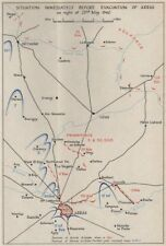 FALL OF FRANCE 1940. Arras evacuation 23rd May. Troop positions. HMSO 1953 map
