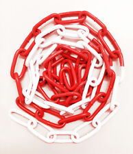 6mm x 42mm Epoxy Coated Steel Welded Barrier Chain in Red/White - 19358WB