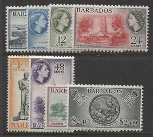 BARBADOS - 1964/5 WMK. BLOCK CA SET MNH  SG.312-319 (REF.E12)