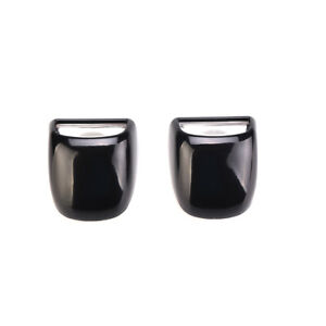 2pcs Rear Tag License Plate Light Lens Black Fits CHEVROLET SILVERADO 1500 2500