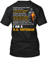 I Am A U.s. Veteran - My Eyes Have Seen Things Yours Hanes Tagless Tee T-Shirt