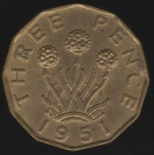 More details for 1951 george vi threepence coin | british coins | pennies2pounds