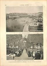 FELIX FAURE À BREST PORT BANQUET Caserne Fautras GRAVURE 1896