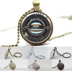 Vintage Camera Lens - Compur - Photo Glass Dome Necklace, Pendant, Keyring