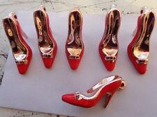 6x émail Red Shoe Charms 51x17x27mm