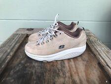 Skechers 11801 Shape Ups Womens Size 9.5 Walking Tan Brown Shoes ~ USED
