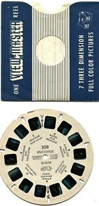 View-Master Reel - Anchorage, Alaska, #308 w/Sleeve c.1950
