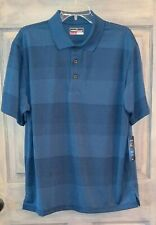 *Nwt* mens polo/golf shirt Size L Msrp $55 Grand slam Performance wicking blue