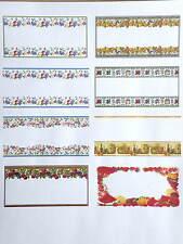 24 x Attractive Blank Jam Preserve Marmalade jar labels, Border styles 64x34mm