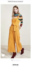 NWOT Mara Hoffman Idola Mustard Yellow Cotton Corduroy Jumpsuit 0
