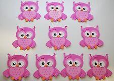 10 X RECUERDOS ROSITA BABY SHOWER FAVORS PINK OWL PARTY DECORATION CENTERPIECE X