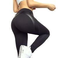 Women Yoga Pants Elastic High Waist Sport Fitness Leggings Slim Trousers