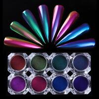 0.5g Chameleon Mirror Nail Glitter Powder Dust  Black Base Color Needed