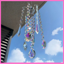 Chandelier Crystal Coating Hanging Rainbow Maker Window Curtains Pendant Decor
