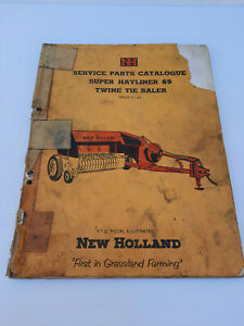 Vintage New Holland Super Hayliner 69 Twin Tie Baler Service Parts Catalogue