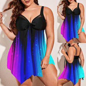 EUDOLAH Damen zweiteilig Tankini mit R/öckchen Shorts Badeanzug Badekleid
