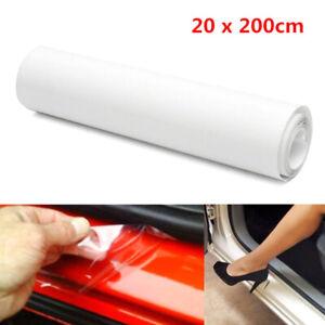 20x200cm Auto Car Door Sill Edge Paint Protection Vinyl Film Sheet Anti Scratch~