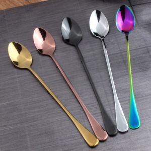 2/4/8 Rainbow UNICORN MERMAID Long Handle Tea Spoon Cutlery Set STAINLESS STEEL