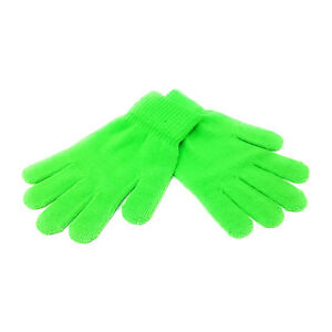 ADULTS Magic Gloves Stretch Winter Mens Black Ladies Womens One Size Warm Soft