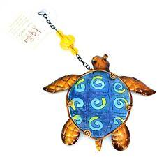 Regal Art & Gift Hand Painted Metal & Glass Sea Turtle Sun Catcher Suncactcher