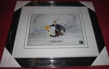 JOHNNY BOWER SIGNED TORONTO MAPLE LEAFS FRAMED 11X14  PICTURE