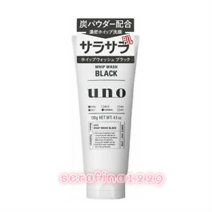 Japan Shiseido Men UNO Whip Wash Black Face Wash (130g)~w/Gift~US F/S~