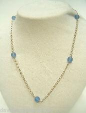 Collana in ARGENTO 925 e pietre azzurre sintetiche - girocollo -