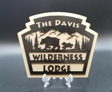 Personalized Disney World Fort Wilderness and Wilderness Lodge Inspired Plaque