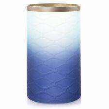 Yankee Candle Twilight Dusk Glass Jar Candle Holder Blue & White - New!