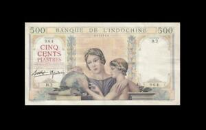 1939 FRENCH INDOCHINA 500 PIASTRES FRANCE **X-RARE** (( VF ))