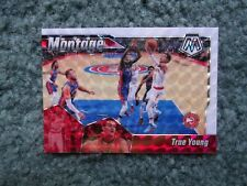 2019-20 PANINI MOSAIC BASKETBALL MONTAGE WHITE PRIZM TRAE YOUNG SSP #24, 02/25!!