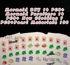 Animal Crossing:New Horizons Mermaid Item DIY + Furniture + Clothes+ Pearls