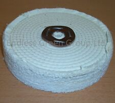 "8"" Stitched Cotton Buffing Wheel to clean & polish metal   200mm x 40mm   C200/3"