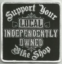 SUPPORT YOUR LOCAL BIKE SHOP MOTORCYCLE JACKET VEST MORALE BIKER MILITARY PATCH