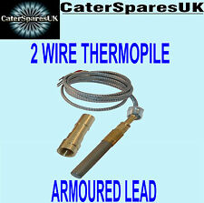 "High Temperature Metal Thermopile For Pizza Ovens 36"" Long Twin Lead Fork"