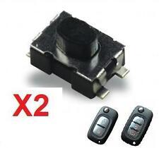 2x Switch bouton pour clé pliante télécommande plip Renault Clio Modus Kangoo ..