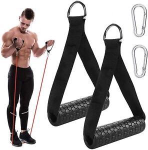 2Stk Einhand Kabelzug Griffe Trainings Griff Einhandgriff Fitness Zubehör DE
