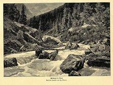 GG. Macco Wild Bach nel Tirolo entusiasta-soggetto Histor. pressione V. 1900