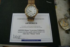 Armored, screen used wristwatch. hero screen used by Laurence Fishburne COA
