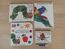 4 x Pappbilderbücher Eric Carle*Tier-ABC*Die kleine Spinne*Mein Fühlbuch Raupe N