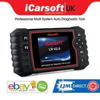 For Range Rover Sport Diagnostic Fault Code Reader iCarsoft LR V2 ABS SRS RESET