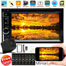 2Din Car Stereo CD DVD Player Bluetooth Touchscreen Radio Mirror Link + Rear Cam