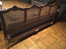 Kindel King Size Headboard French Style Cherry Wood - Beautiful Condition Deal!