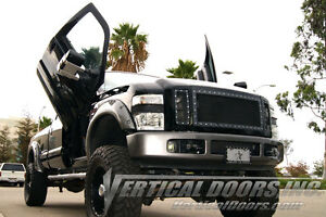 Ford F250 F350 Superduty 99-16 Lambo Style Vertical Doors INC  Bolt On Hinge Kit