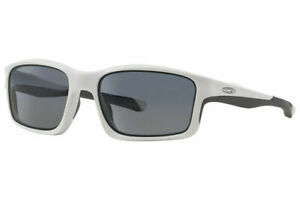 Oakley Chainlink Sunglasses OO9247-07 Matte White | Grey Polarized Authentic